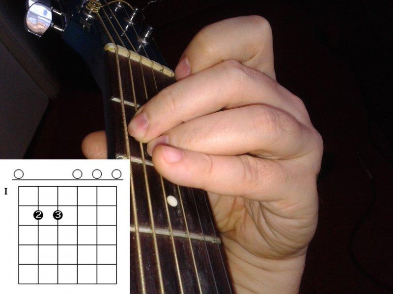 Самый простой вариант аккорда