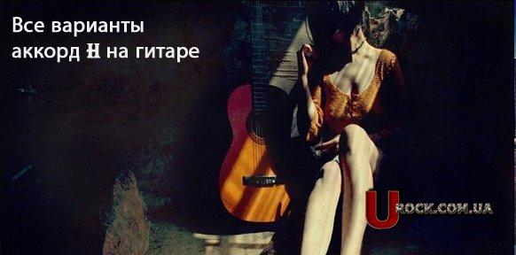 Аккорд H на гитаре.